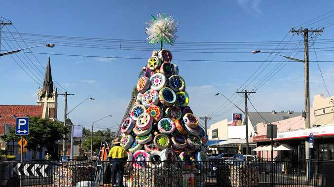 Lismore's new recycled Christmas tree for 2016.