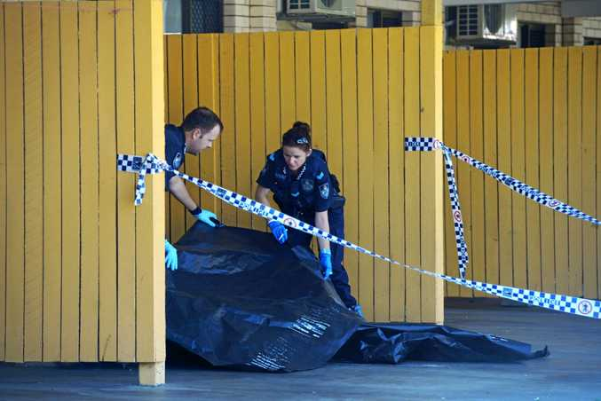 TAPED OFF: Bundaberg Police searched a Takalvan St unit in April 2015 as part of their investigations into the torture of a man in Mt Perry in March 2015.