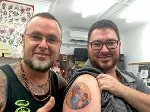 A politician and a monk walk into a tattoo parlour...