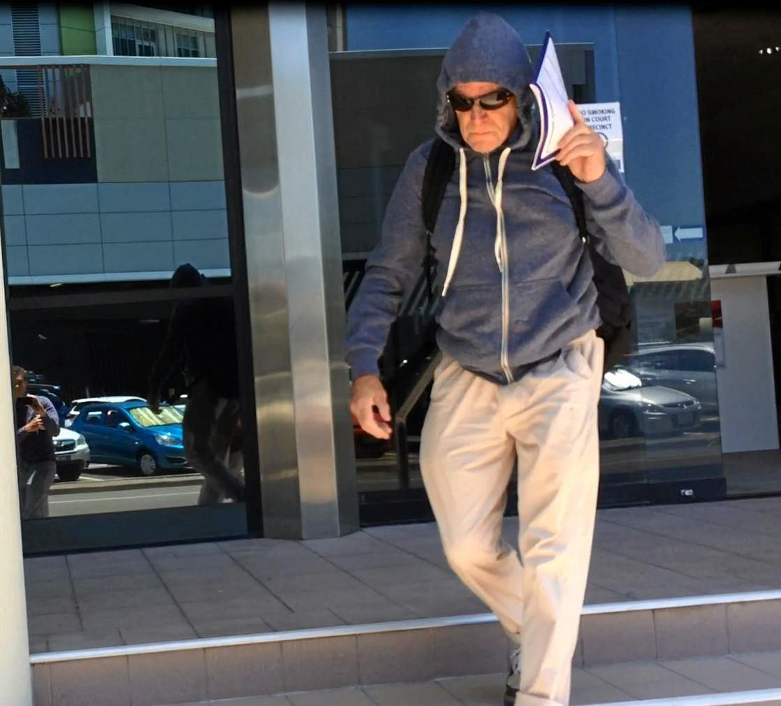Former Coast massage therapist Philip Roy Newman, 65, leaves Maroochydore Magistrates Court after being sentenced for sexually assaulting three women clients.