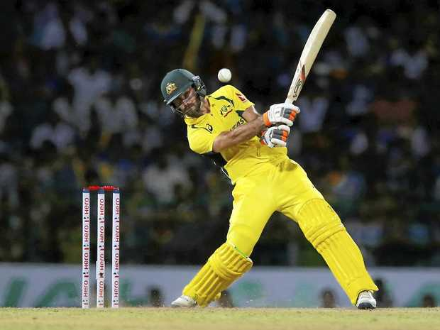 Australia's Glenn Maxwell in action in a T20 international.