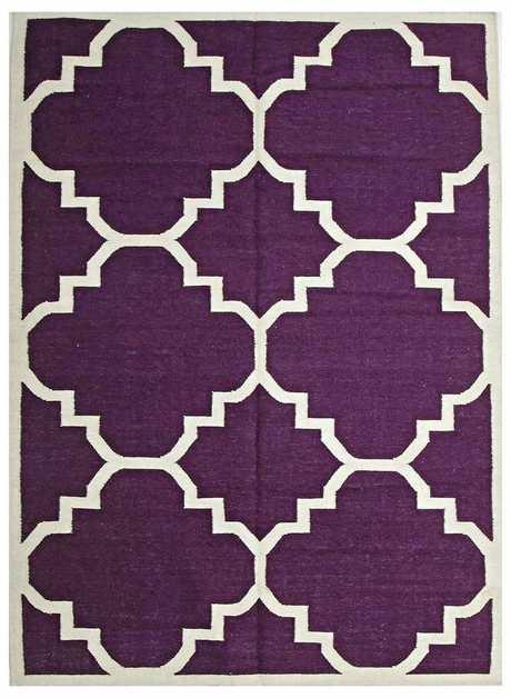 Aubergine Flat Weave Large Moroccan Design Rug, $289 - $479, www.templeandwebster.com.au
