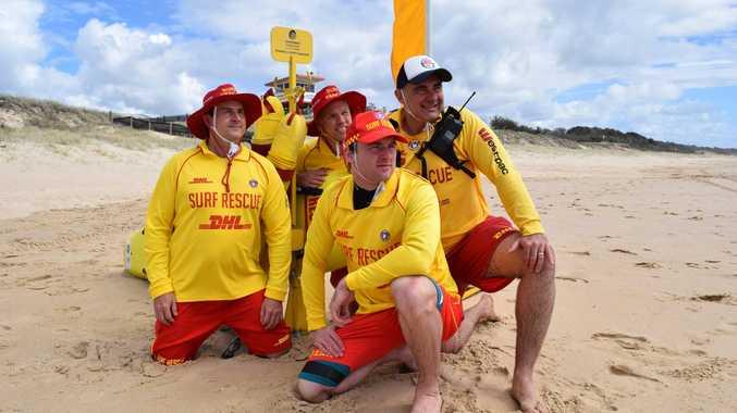Marcoola Surf Life Saving Club lifesavers Scott Savimaki, Mark Schreiber, Jaye Featherby and Peter Allan are dedicated volunteers.