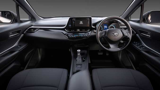 2017 Toyota C-HR cabin from a pre-production Australian model.