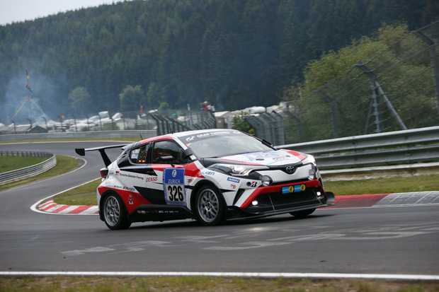 Toyota C-HR taking part in the 2016 Nurburgring 24 Hours