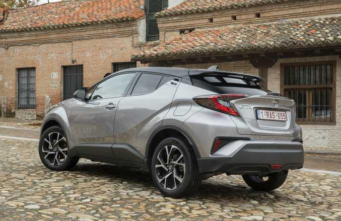 2017 Toyota C-HR on location in Spain.