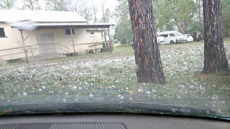 Lee Zammit took these photos of the hail at Cedar Point.