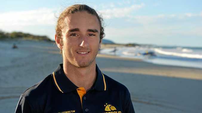 Yandina's Cody Rychvalsky represents Australia at the Youth Lifesaving World Championships in the Netherlands.