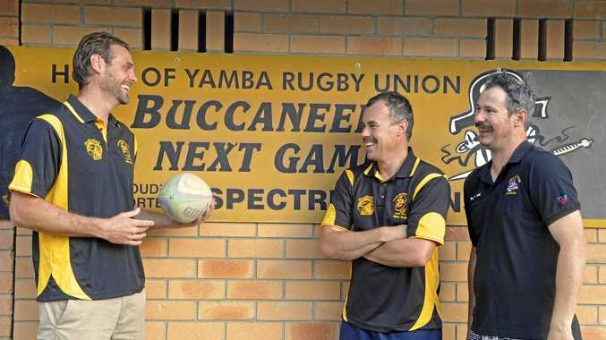 SHIP SHAPE: The new coaching ranks at the Yamba Buccaneers with head coach Adrian Miller, Scott Moore and Leigh Bushell at the club's Yamba field.