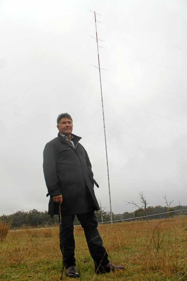 WINDS OF CHANGE: Rabbit Ridge Wind Farm proponent Tim Lucas, pictured in 2013, finally has approval to build the green energy project.