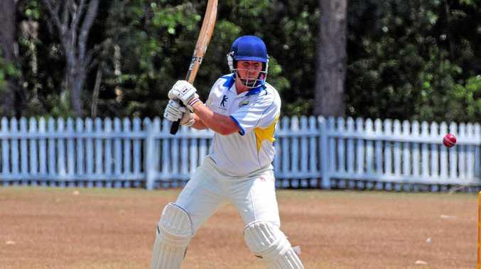 KEY MAN: .Nambour batsman Steve Ledger cuts at Read Park.