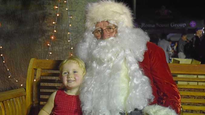 CHRISTMAS WISH: Emmielu Probst with Santa.