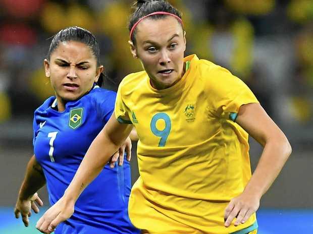 Caitlin Foord of Australia has been named the best footballer in Asia.
