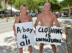 Nude protesters urged to keep it in their pants