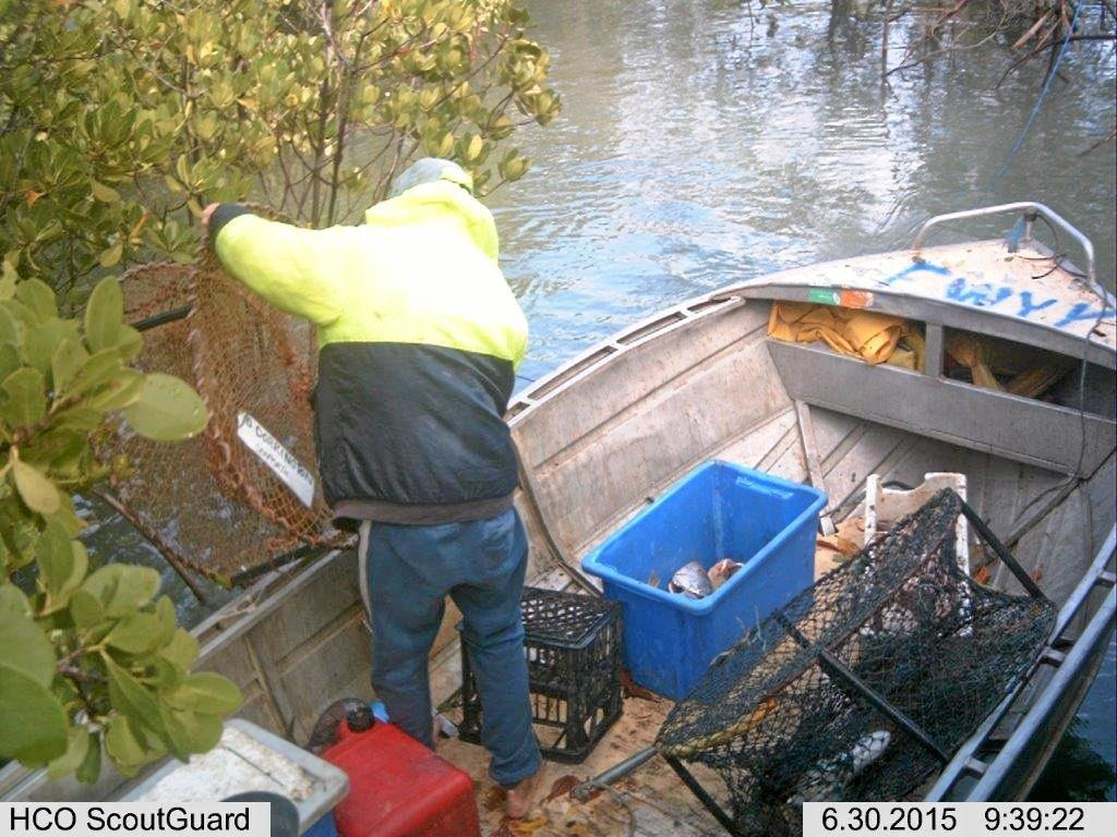 NAME CLEARED: Colin Walters said surveillance photos showed his deck hand moving crab pots in order to access a gully.