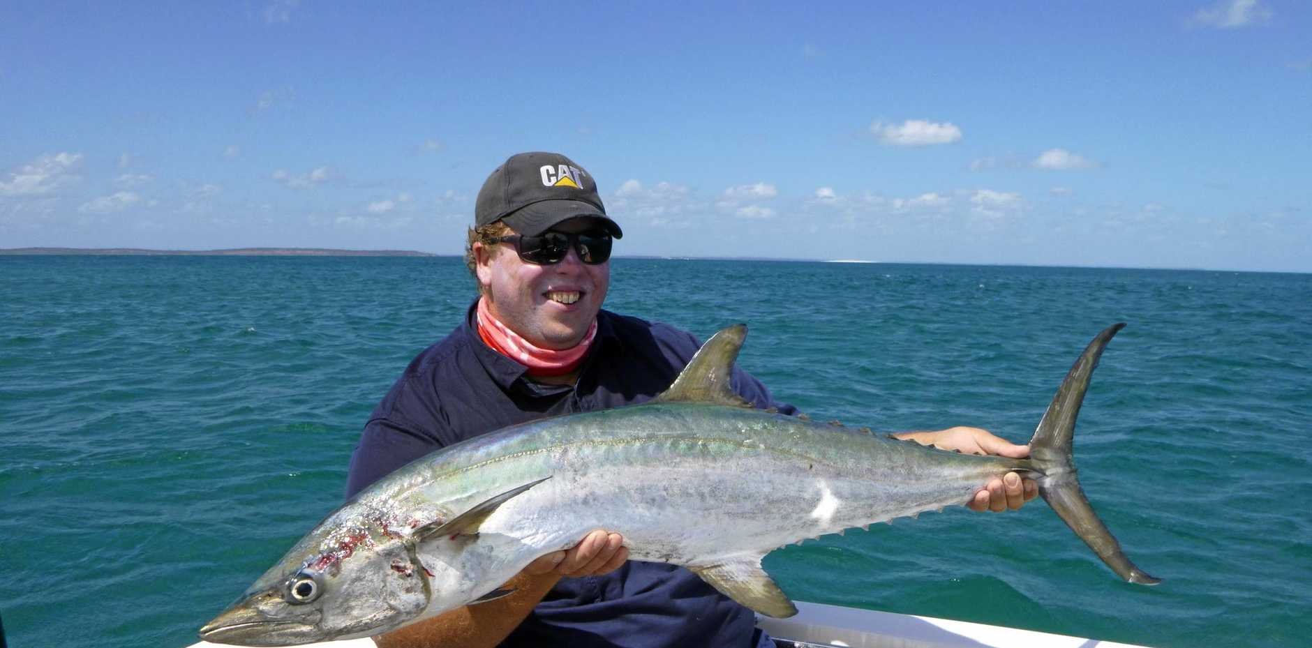 Matt from Brisbane landed this solid broadbar mackerel while out on a charter trip with Hervey Bay Fly and Sportfishing recently.