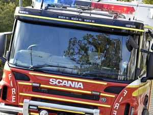 Shed attached to house burns down in blaze