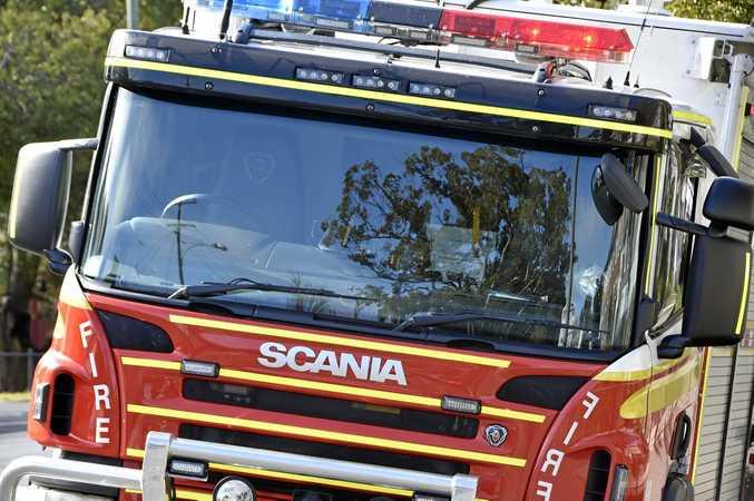 FIRE crews are battling a blaze in Morayfield.