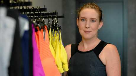Lacey Boyd is selling Lorna Jane clothing from her House of Kicks store at Salt in Yeppoon.