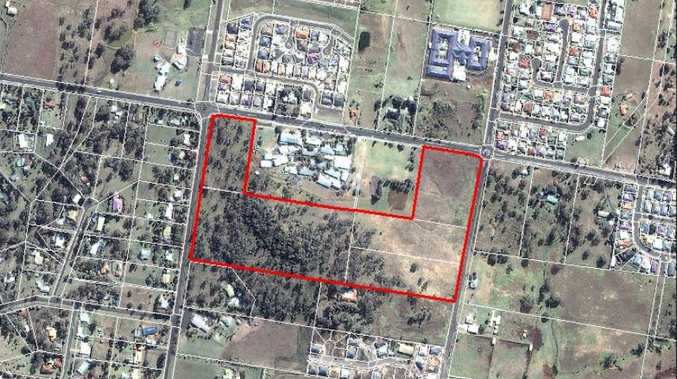 The location of the housing development in Glenvale.
