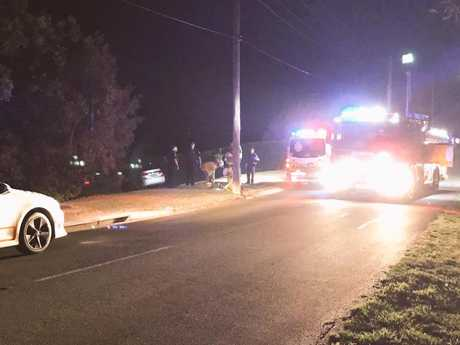 The scene of the incident where a man died after being run over by an Uber driver. Photo Win News Toowoomba