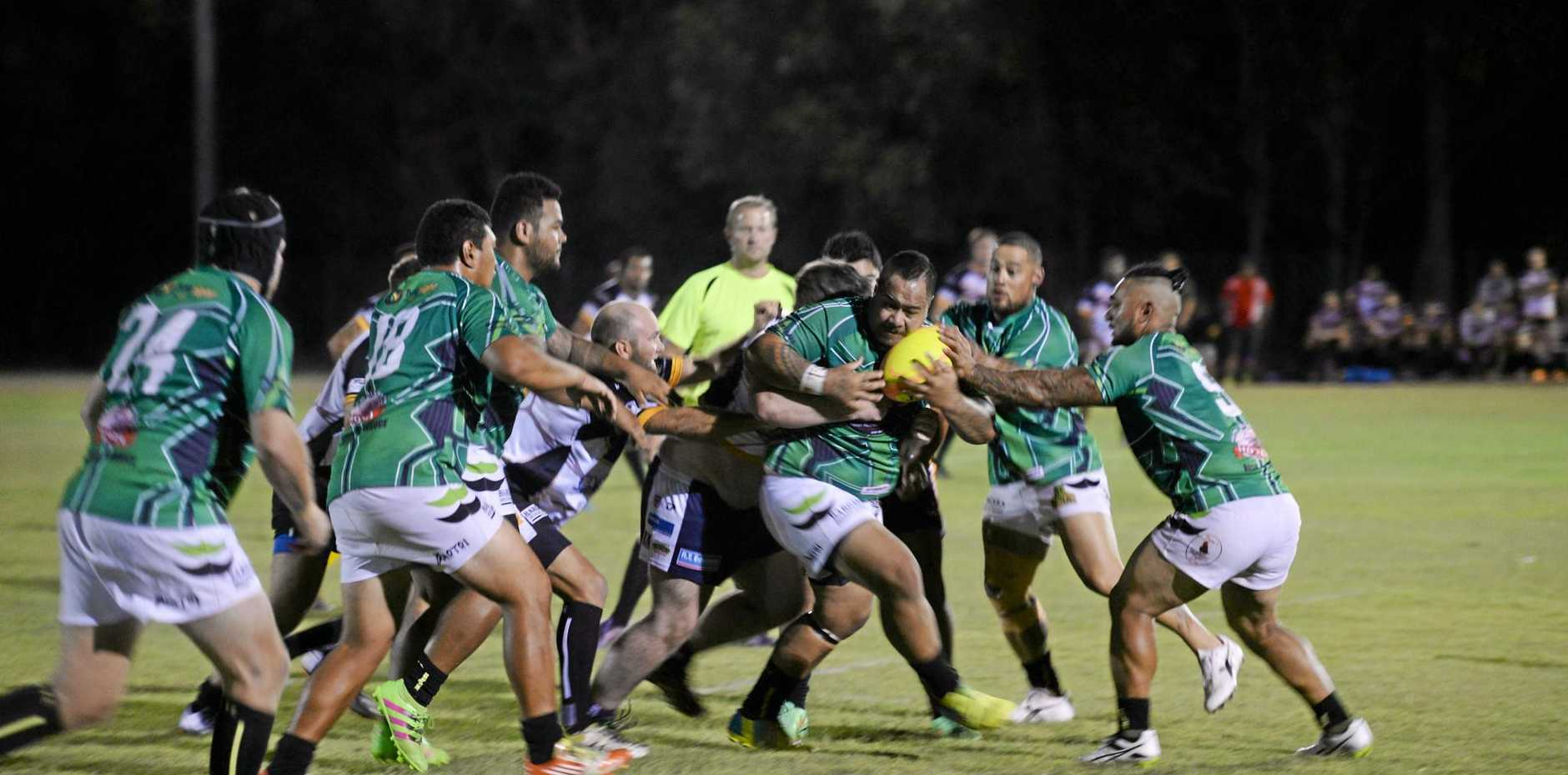 TACKLE: Siua Vai, with the ball against the Turtles, is one of two regular players out of tonight's team.