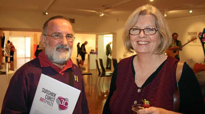 Christopher Hardwick, of Imbil, has headed to Tanzania to teach villagers some of his jewellery trade. He is pictured at a Sunshine COast Art Prize exhibition opening.