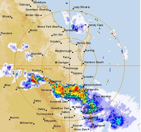 Bureau of Meteorology radar at 7.30pm Saturday.