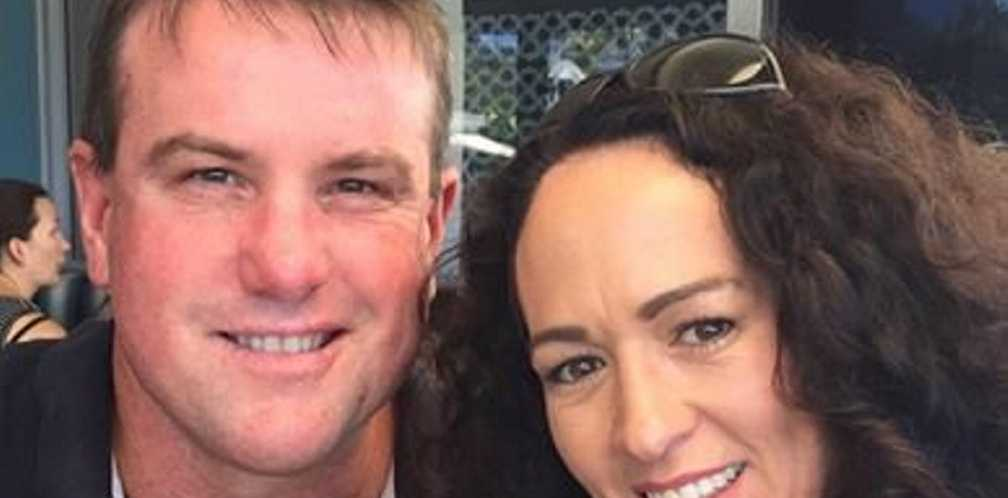 Toowoomba man Scott Stallman, 44, with wife Monique, was run over and died in his driveway on Friday night.