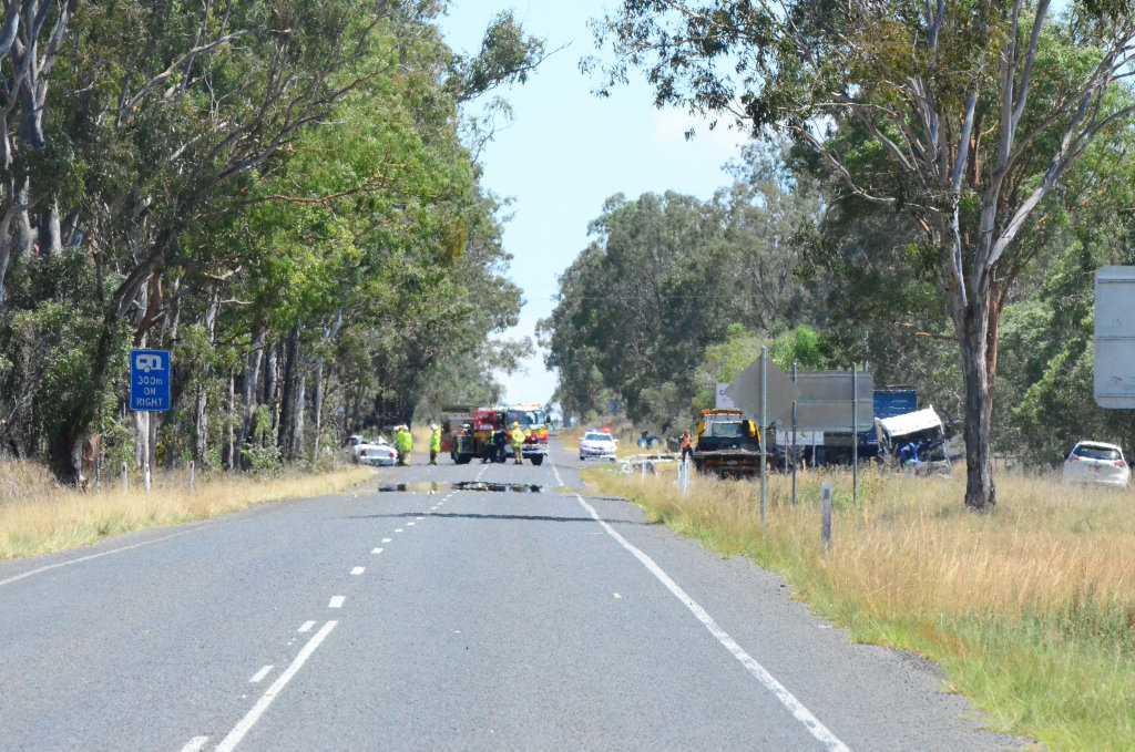 Two car collision south of Nanango. Sunday, December 4 2016.