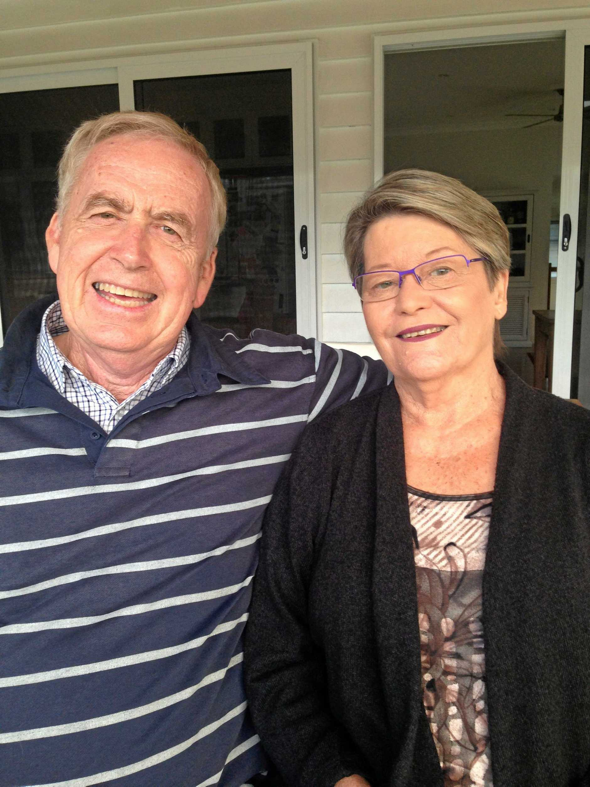 VIBRANT COUPLE: Ros and Tony Foran, a couple of superstar grandparents. Ros stars in the book under the 'R' section.