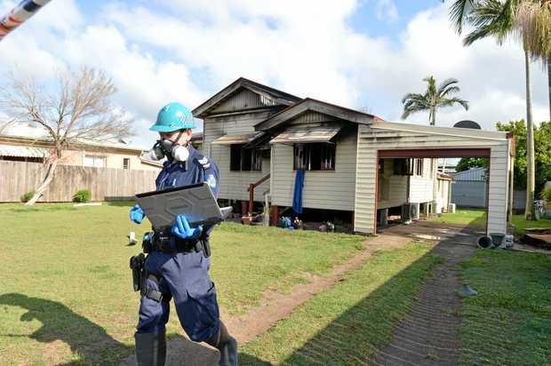 Bundaberg Police investigate a suspicious house fire in Brand St Walkervale.