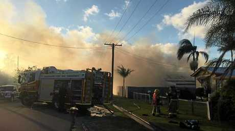 BLAZE: The Brand St house on fire on Saturday, December 3, 2016. Photo courtesy 7 News Wide Bay.