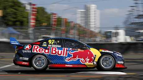Shane Van Gisbergen drives to third in the Sydney 500.