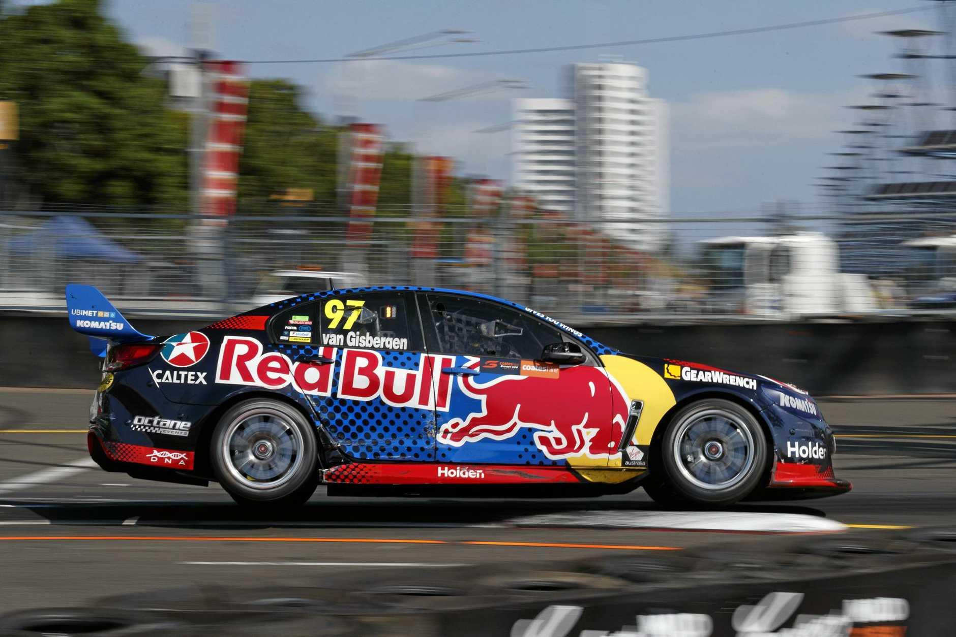 Shane Van Gisbergen drives to third in the Sydney 500.