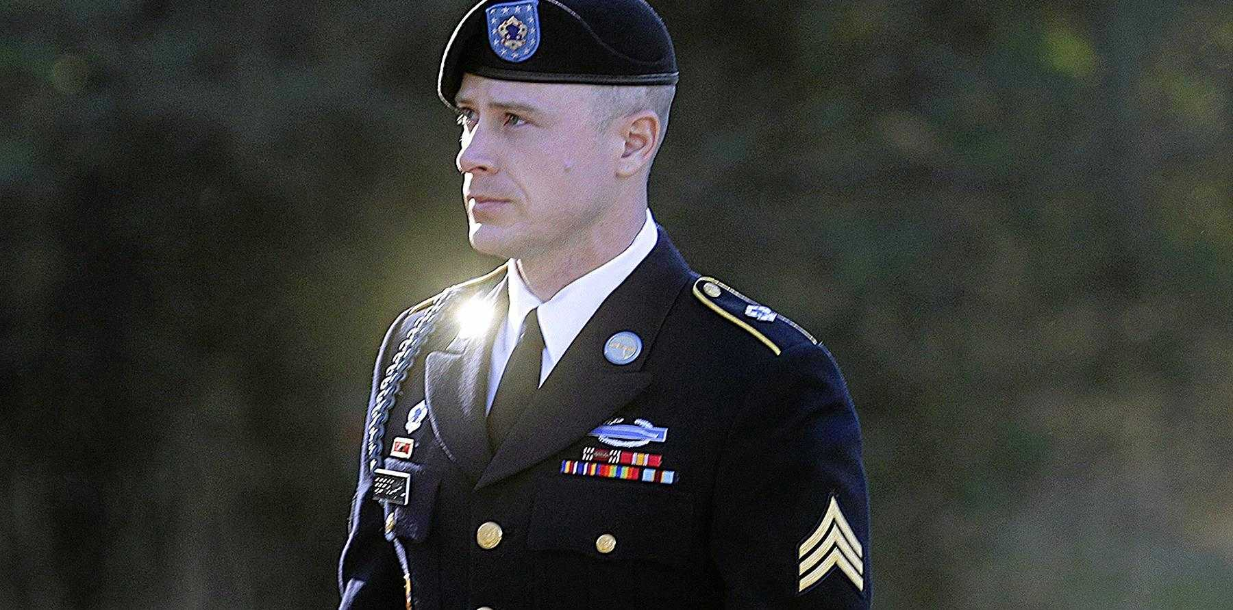 Bowe Bergdahl arrives for a pre-trial hearing at Fort Bragg.