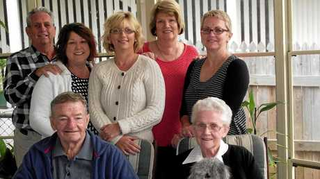 MOTORING MILESTONE: DC Motors 47th reunion committee (from left, front), Nev and Noela Callaghan, (back) Noel Roberts, Joanne Whitfield, Lesley Bell, Sandy Glazebrook and Ann-Maree Richardson finalise details for the 2013 reunion.