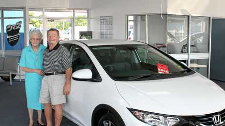 Noela and Nev Callaghan continued to buy cars from the DC Motors dealership after retirement.