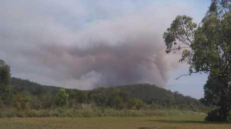 Fire near Evans Head as captured by Von Pyne.