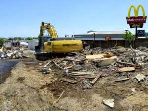 Fireman's hall demolished