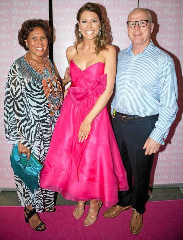 NEW BUSINESS: Celebrating the launch of new Sunshine Coast fashion business Miss Monogram were (from left) Mayoress Lorrell Jamieson, Natalie Tink and Mayor Mark Jamieson.