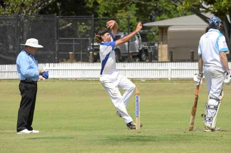 Tucabia bowler Tyson Blackadder during the CRCA match between Tucabia and Coutts at Ellem Oval Grafton on Saturday, 3rd December, 2016.