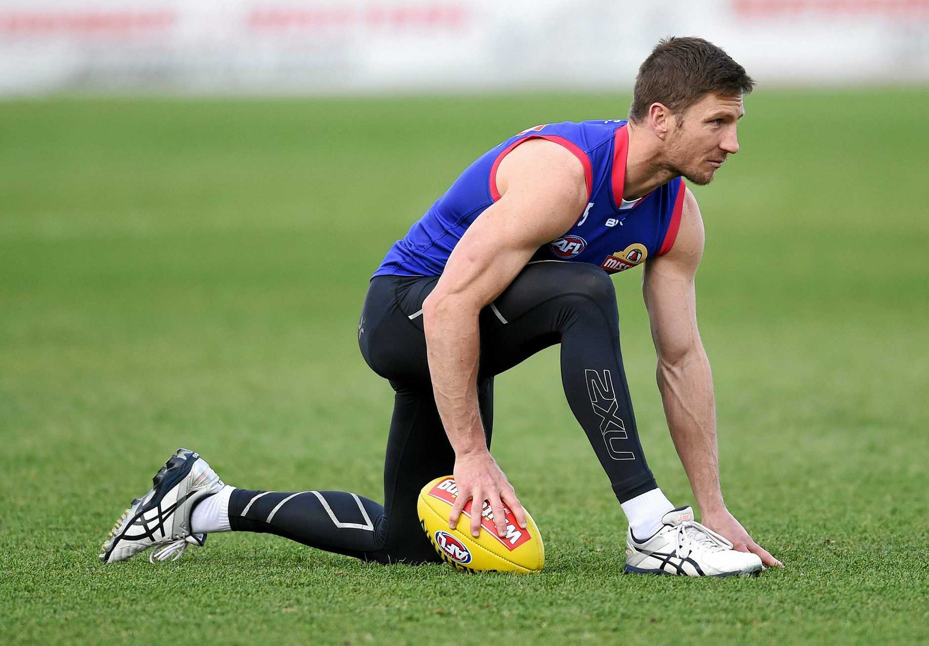 Matthew Boyd  during a Western Bulldogs training session at Whitten Oval.