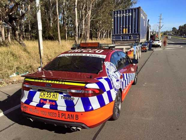 Second truck defected by Joint Traffic Taskforce following truck & Dog trailer crash at St Marys.