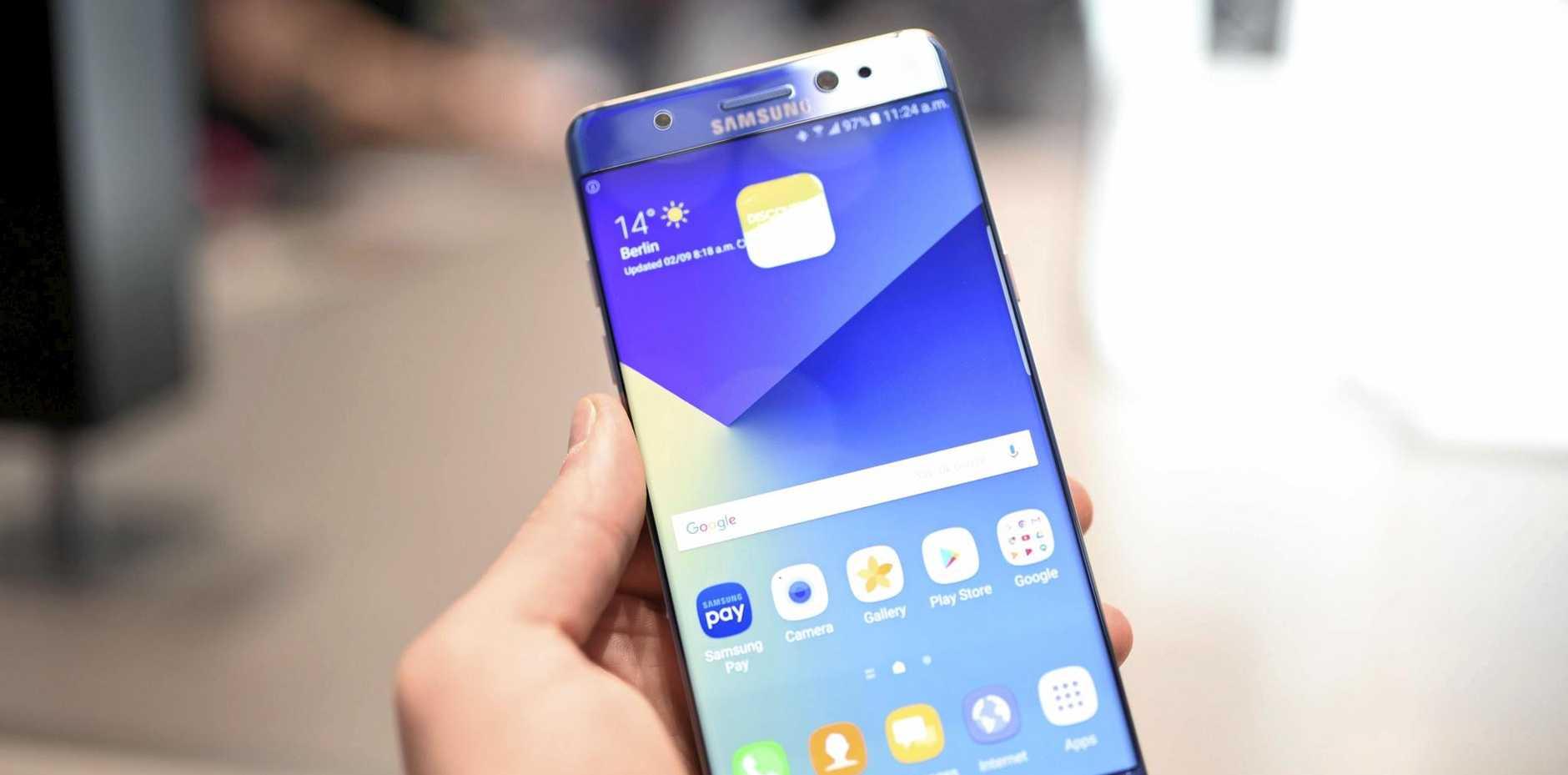 A Samsung Galaxy Note 7.