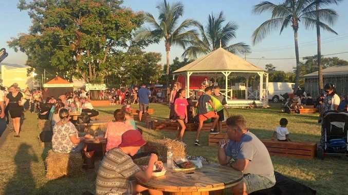 HUGE SUCCESS: More than 6000 people attended the CQ Eat St event at the Rockhampton Showgrounds on Saturday night. INSET: Musician Aaron Hamilton.