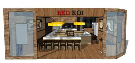 Red Koi will be opening early in the new year offering a variety of Japanese cuisines