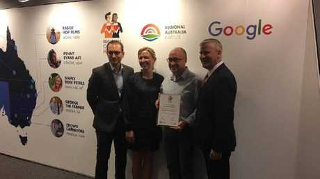 RAI CEO Jack Archer (left), Aisling Finch Google Australia, Stephen Dummett AGDATA and Small Business Minister Michael McCormack.