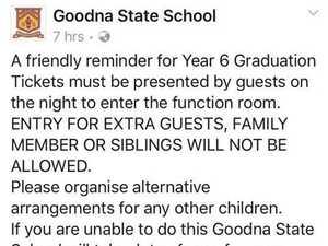 'Fuming': Graduation two ticket limit has parents upset