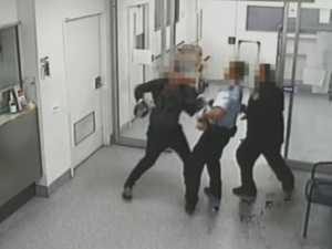CCTV: Security Guards Attacked